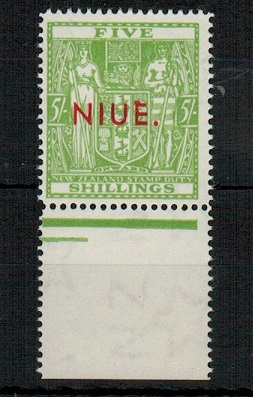 NIUE - 1967 5/- pale yellowish green