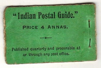 INDIA - 1906 4a black on green (incomplete) BOOKLET. SG SB3a.