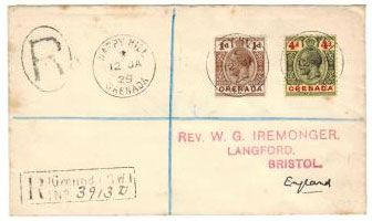 GRENADA - 1929 HAPPY HILL cover.