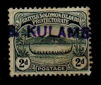 SOLOMON ISLANDS - 1908 2d (SG 10) cancelled by part KULAMBANGRA maritime strike.
