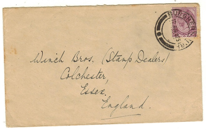 SOUTH AFRICA - 1925 2d rate cover to UK used at BURGHERSDORP.