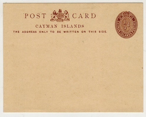 CAYMAN ISLANDS - 1909 1/4d brown PSC unused.  H&G 1.