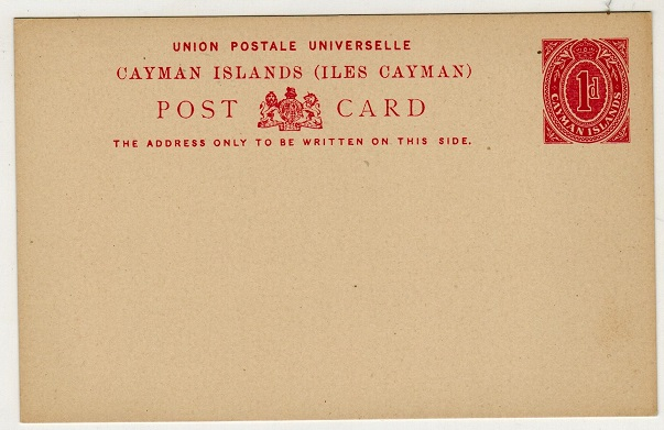 CAYMAN ISLANDS - 1909 1d red PSC unused.  H&G 3.