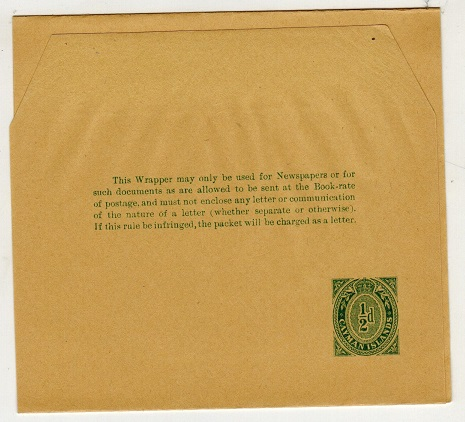 CAYMAN ISLANDS - 1909 1/2d green postal stationery wrapper unused.  H&G 1.
