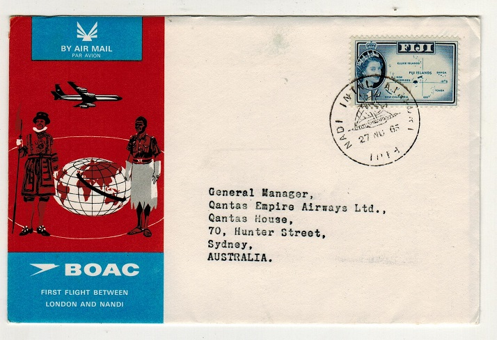 FIJI - 1965 first flight cover to Australia.