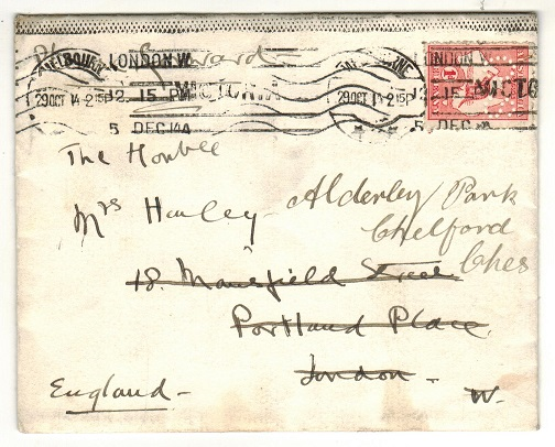 AUSTRALIA - 1914 cover to UK with 1d