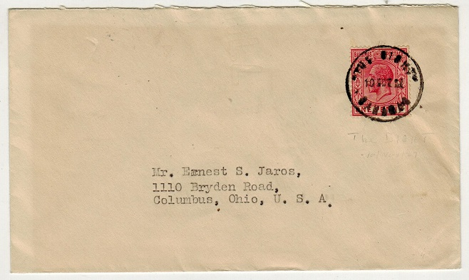 BAHAMAS - 1921 1d rate cover to USA used at THE BIGHT.