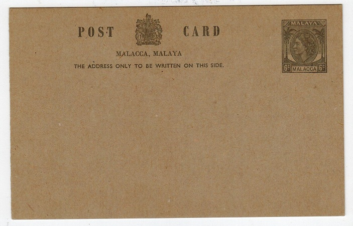 MALAYA (Malacca) - 1954 6c grey PSC unused.  H&G 6.