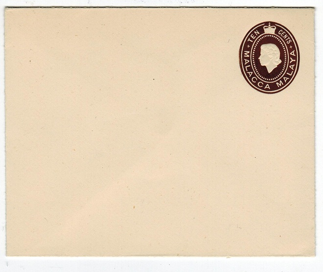 MALAYA (Malacca) - 1953 10c dark brown PSE unused.  H&G 2.