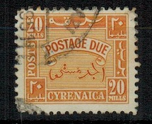CYRENAICA EMIRATE - 1950 20m orange yellow