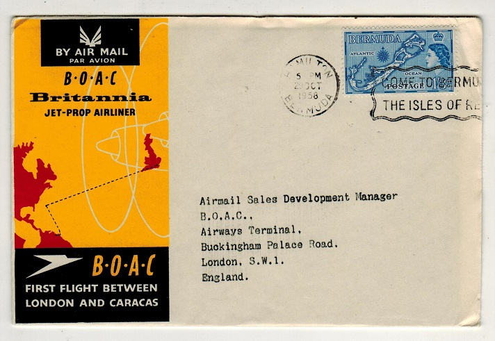 BERMUDA - 1958 first flight cover to UK.