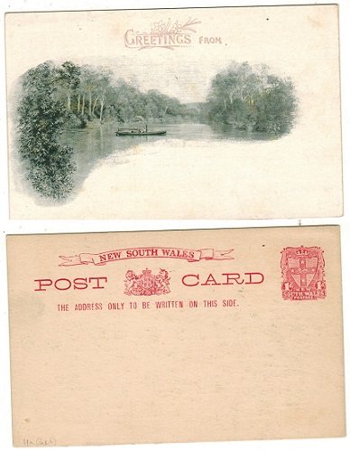 AUSTRALIA (New South Wales) - 1897 1d vermilion illustrated PSC unused.  H&G 19a.