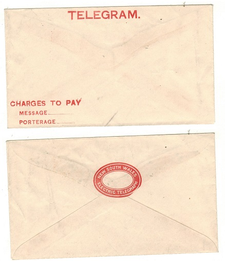 AUSTRALIA (New South Wales) - 1890 (circa) TELEGRAM envelope unused.