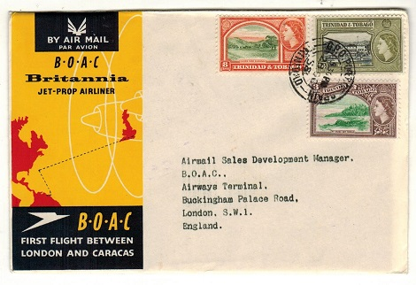 TRINIDAD AND TOBAGO - 1958 first flight cover to UK.