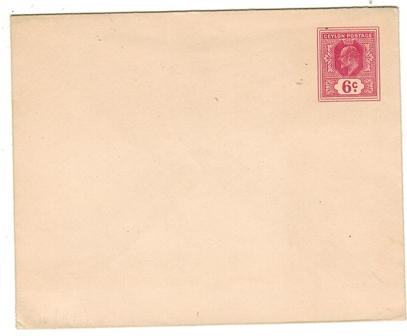 CEYLON - 1908 6c carmine-rose PSE unused.  H&G 26.