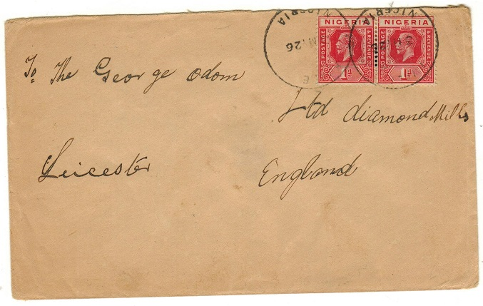 NIGERIA - 1926 2d rate cover to UK used at KWALE.
