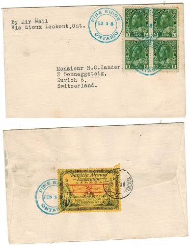 CANADA - 1927 first flight cover via