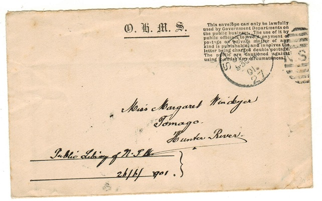 AUSTRALIA (N.S.W.) - 1901 local use of O.H.M.S. envelope from SYDNEY.