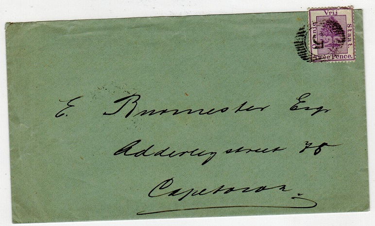 ORANGE FREE STATE - 1890 2d rate cover to Cape Town cancelled by