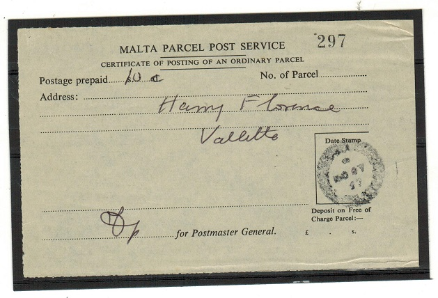 MALTA - 1947 (NO.27.) use of