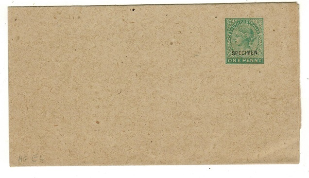 AUSTRALIA (South Australia) - 1899 1d green postal stationery wrapper unused SPECIMEN.  H&G 4.