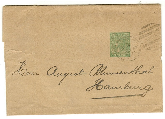 AUSTRALIA (South Australia) - 1889 1d green stationery wrapper used at ADELAIDE.  H&G 4.