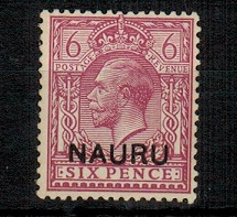 NAURU - 1916 6d purple U/M with SHORT N variety.  SG 10.