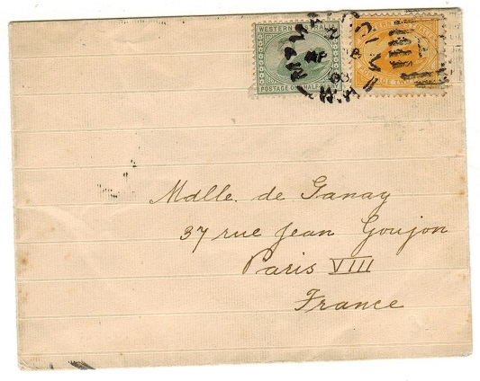 AUSTRALIA (Western Australia) - 1903 2 1/2d rate cover to France used at MT.MALCOM.