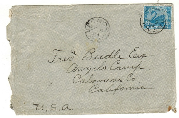AUSTRALIA (Western Australia ) - 1904 2 1/2d rate cover to USA used at LEONORA.