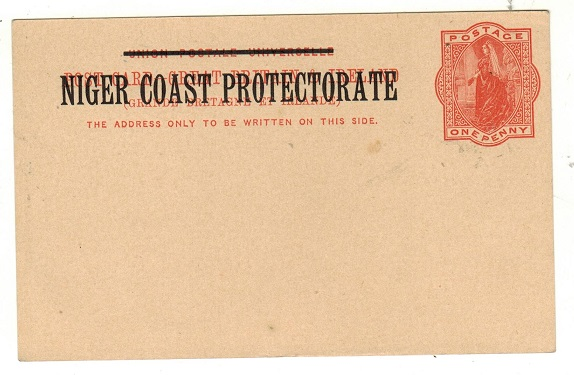 NIGER COAST - 1895 1d vermilion PSC unused.  H&G 3.
