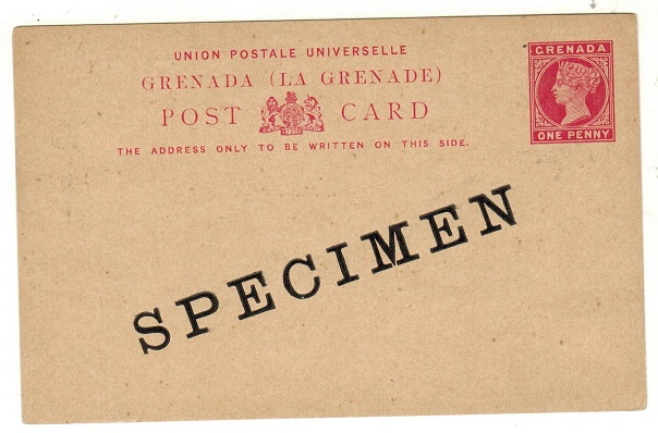 GRENADA - 1886 1d carmine on buff PSC unused SPECIMEN.  H&G 6a.