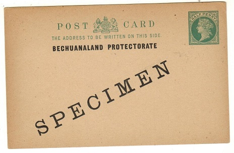 BECHUANALAND - 1901 1/2d blue green PSC unused SPECIMEN.  H&G 1.