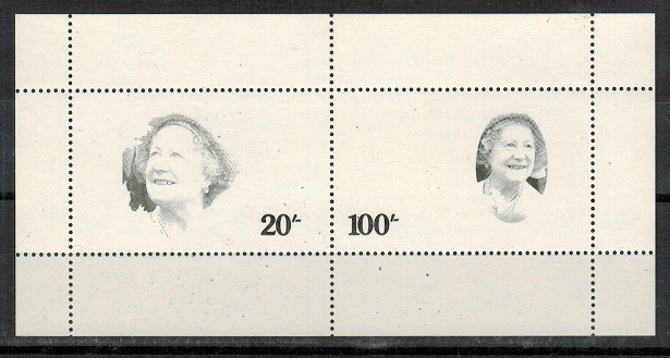 TANGANYIKA- QEII perforated 10/- and 100/-