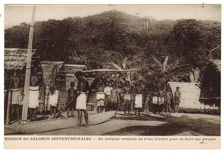 SOLOMON ISLANDS - 1910 (circa) French unused postcard of village life.