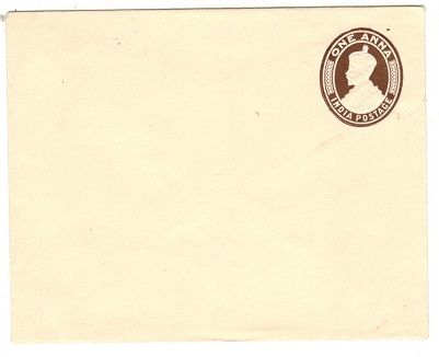 INDIA - 1922 1a brown on cream PSE unused.  H&G 13.