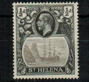 ST.HELENA - 1923 1/2d grey and black mint with DAMAGED VALUE TABLET.  SG 97e.