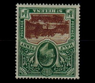 ST.HELENA - 1903 1/2d brown and grey green mint with INVERTED WATERMARK.  SG 55w.