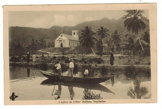 SEYCHELLES - 1910 (circa) unused picture postcard depicting