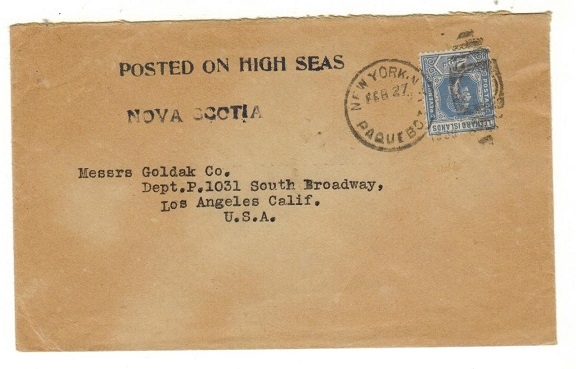 LEEWARD ISLANDS - 1930 (circa) 2 1/2d rate cover to USA used aboard the