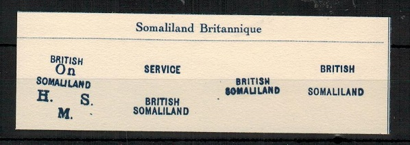 SOMALILAND - 1903 FOURNIER proof strikes taken from his forgery handbook.