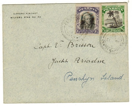 PENRHYN - 1932 2d rate local cover addressed to the