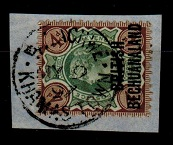 BECHUANALAND - 1891 4d (SG 35) tied to piece by PALACHWE/KHAMAS TOWN cds.