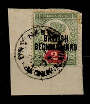 BECHUANALAND - 1891 2d (SG 34) tied to piece by rare DRY HARTS cds.