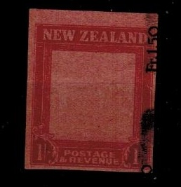 NEW ZEALAND - 1947 1/- IMPERFORATE PLATE PROOF (ex printers waste).