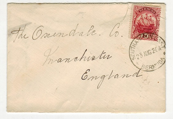 BERMUDA - 1926 1d rate cover to UK used at SOUTHAMPTON EAST/BERMUDA.