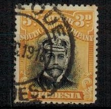 RHODESIA - 1913 3d black and yellow