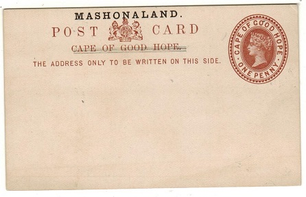 RHODESIA - 1893 1d red brown