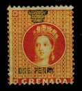 GRENADA - 1875 1d mint REVENUE.