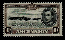 ASCENSION - 1944 1/- (SG 44) mint with RE-ENTRY TO RIGHT FRAME.