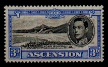 ASCENSION - 1938 3d black and ultramarine. Fine mint. SG 42.
